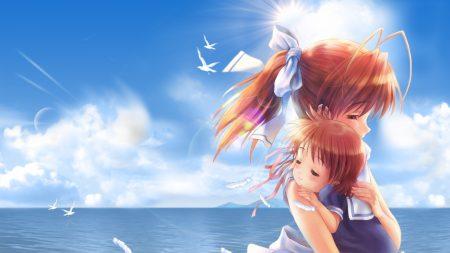girl, child, hug