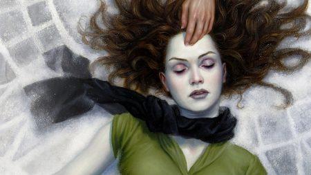 girl, corpse, hand