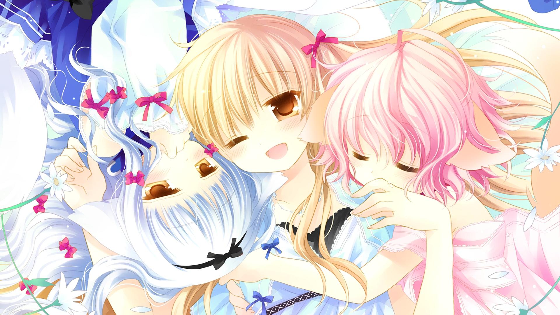girl, cute, embrace