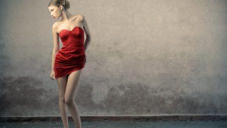 girl, dress, model