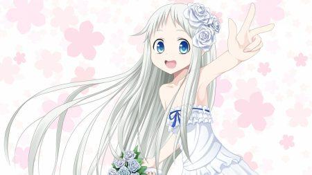 girl, dress, white