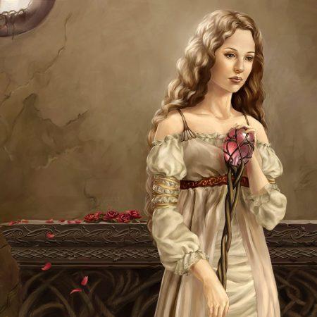 girl, dungeon, staff