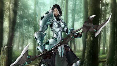 girl, elf, warrior