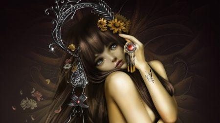 girl, eyes, tattoo