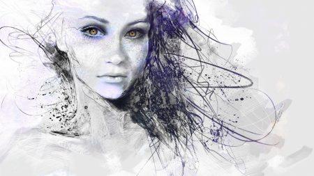 girl, face, eyes