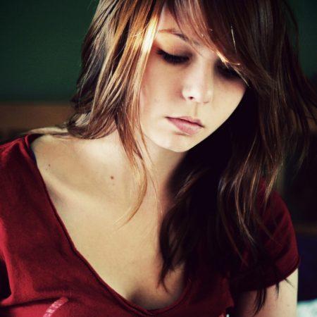 girl, face, sad