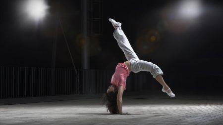girl, flip, pose