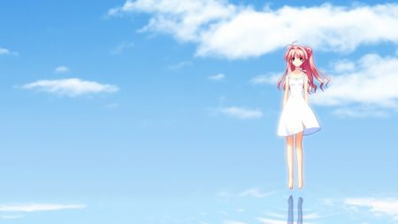 girl, flying, water