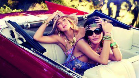 girl, girlfriend, convertible