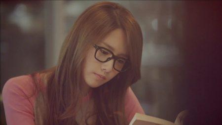 girl, glasses, book