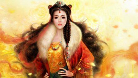 girl, hair, asian