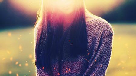 girl, hair, sunlight
