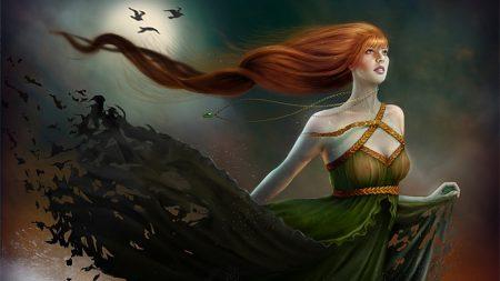 girl, hair, wind