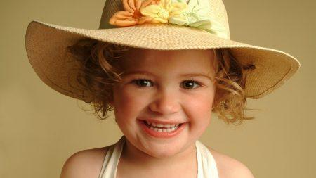 girl, hat, face
