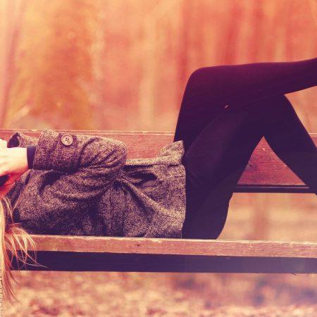 girl, headphones, legs