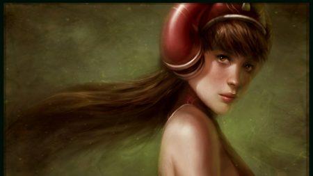 girl, helmet, hair