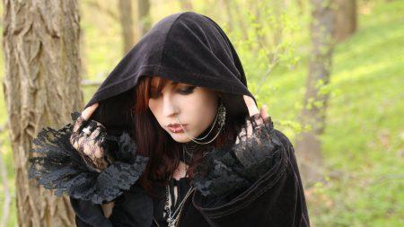 girl, hood, piercing