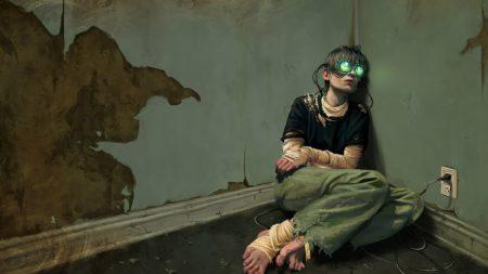 girl, hostage, wall
