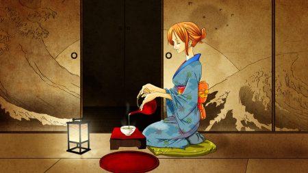 girl, kimono, ceremony