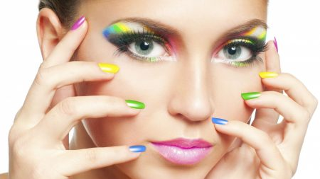 girl, makeup, manicure
