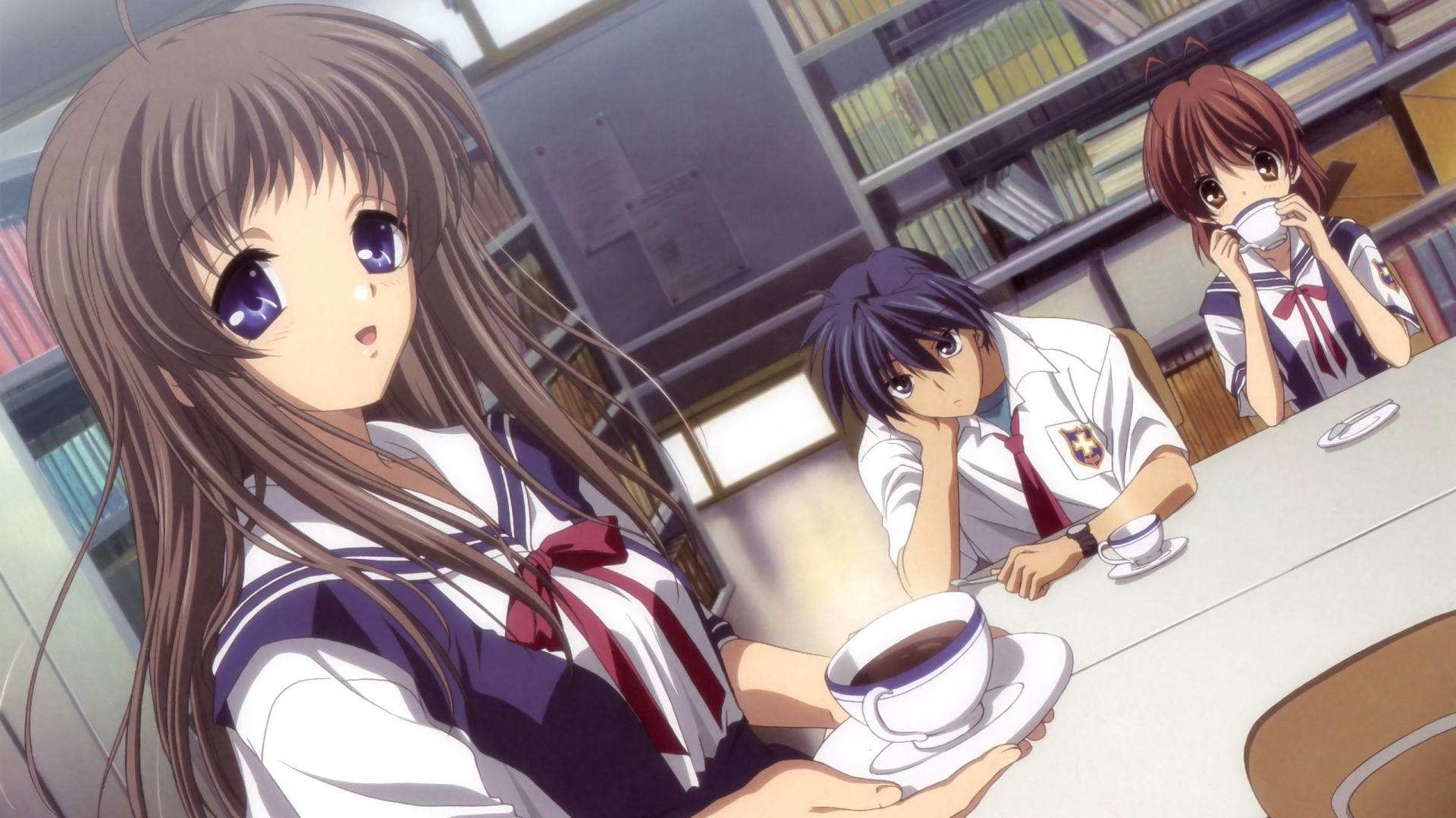 girl, miyazawa yukine, cup