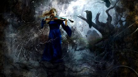 girl, music, violin