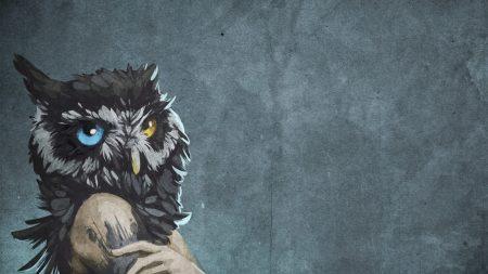 girl, owl, head