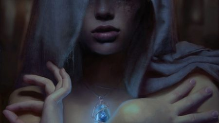 girl, person, amulet