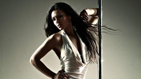 girl, pole, hair