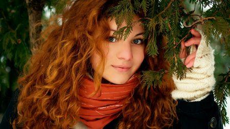girl, redhead, hair
