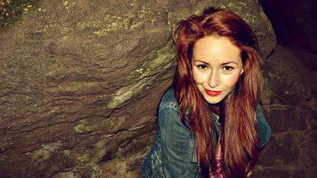 girl, redhead, sad