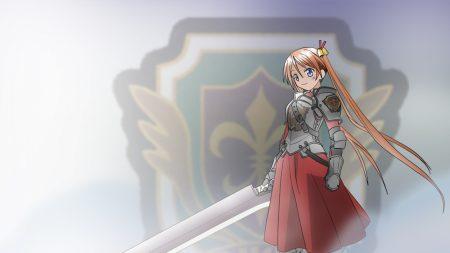 girl, smile, sword