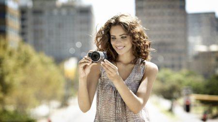 girl, soap dish, camera