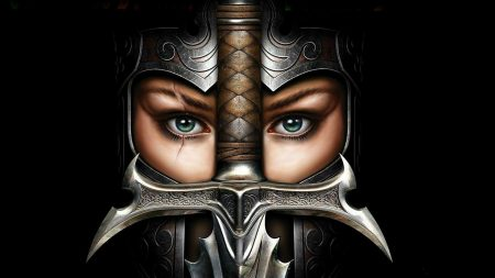 girl, soldier, armor
