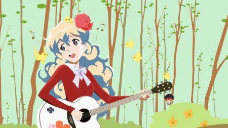girl, song, guitar