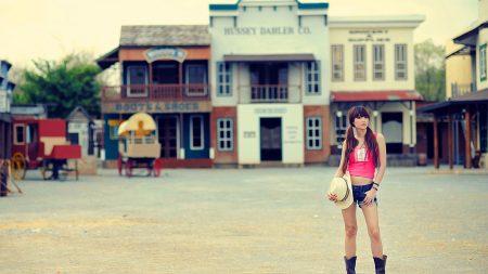 girl, street, model