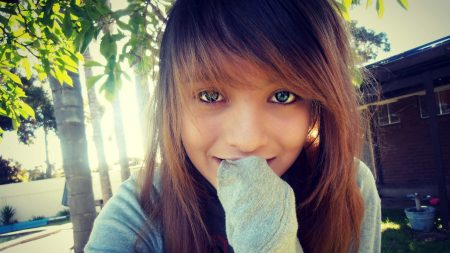 girl, teenager, green-eyed