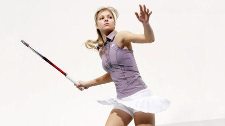 girl, tennis, racket