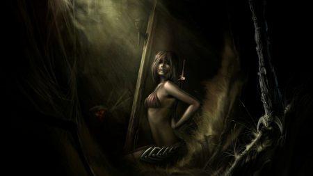 girl, trap, captivity