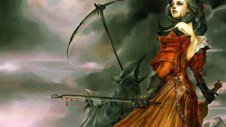 girl, violin, death