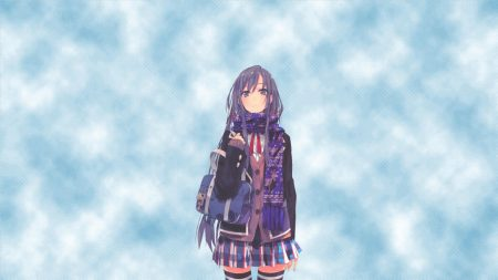 girl, winter, schoolgirl