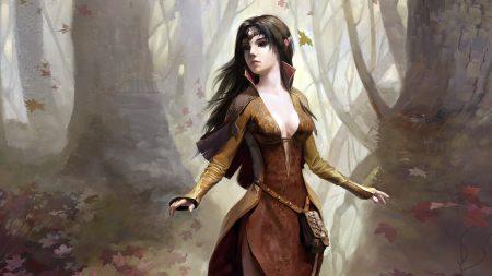 girl, wood, elf