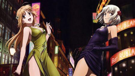 girls, city, street
