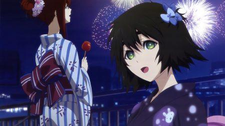 girls, joy, fireworks