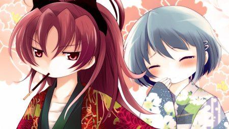 girls, kimonos, blush
