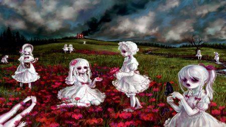 girls, vampires, clearing