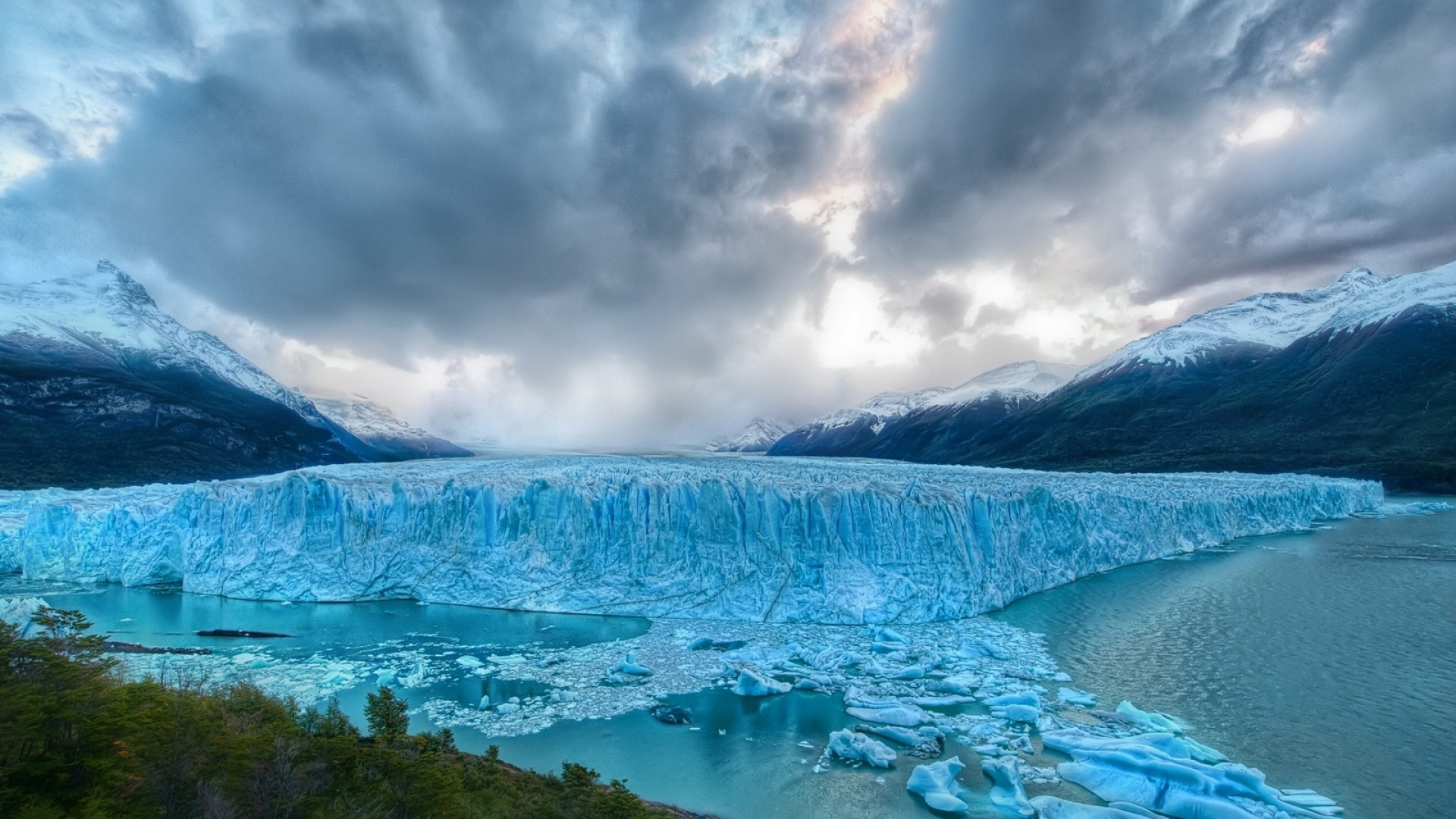 Download Wallpaper 1920x1080 glacier, sky, clouds ...