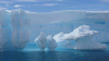 glacier, snow, water