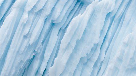 glacier, strips, white