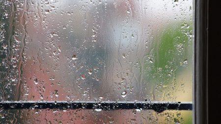 glass, drop, rain